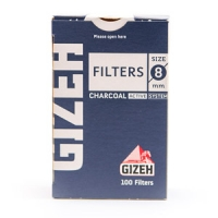 Фильтры для самокруток угольные Gizeh 8мм