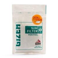 Фильтры для самокруток Gizeh XL Slim Filters Menthol 6мм